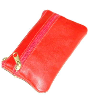 Passion red leather purse